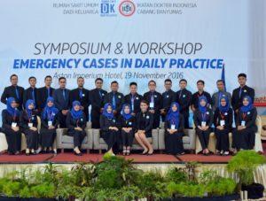 "KEMERIAHAN ""SIMPOSIUM & WORKSHOP EMERGANCY CASES IN DAILY PRACTICE"" RS DADI KELUARGA"