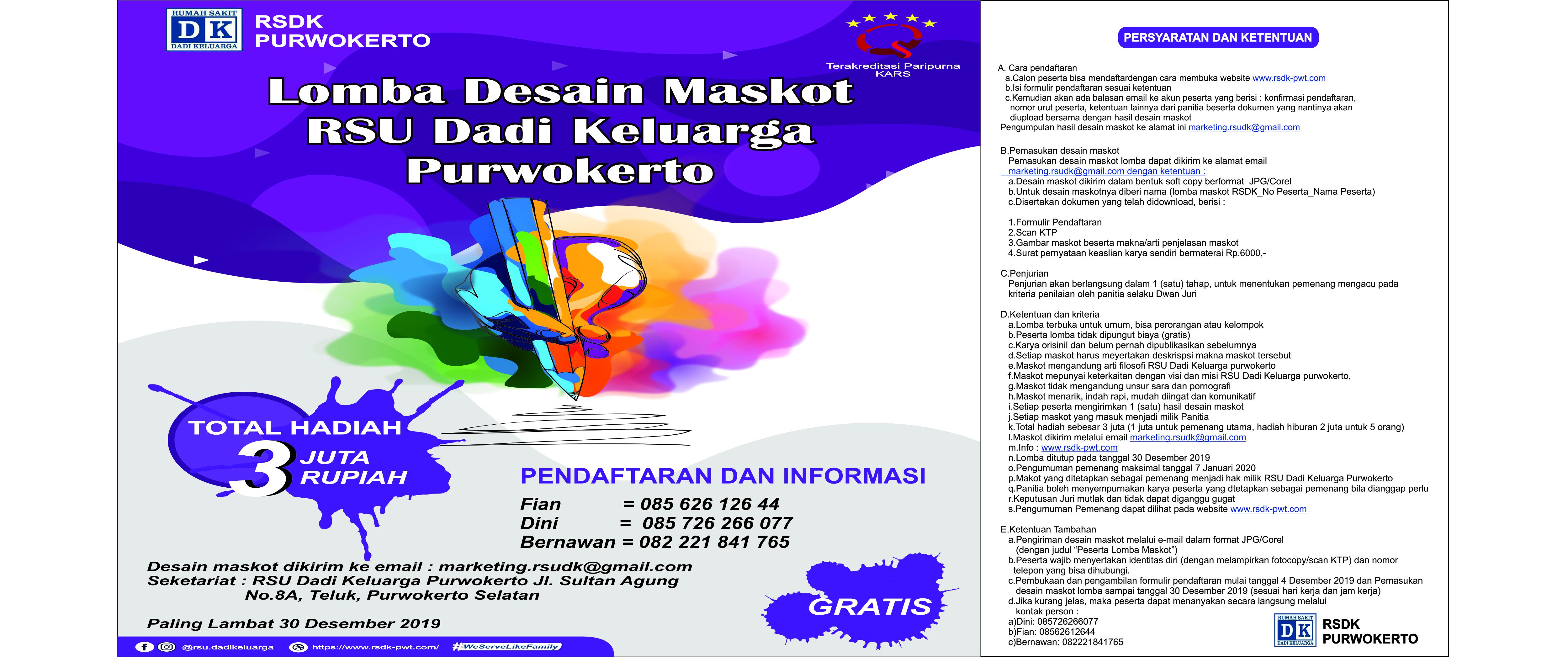 Klik Pendaftaran Lomba Desain Maskot